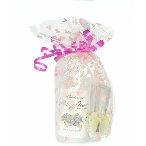 Набор по уходу за руками в подарочной упаковке: крем с экстратом черники 100 мл и масло для ногтей 14мл.