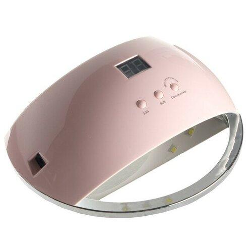 Купить Лампа для гель-лака LuazON LUF-22, LED, 48 Вт, 220 В, 21 диод, таймер 30/60/99 сек., розовая