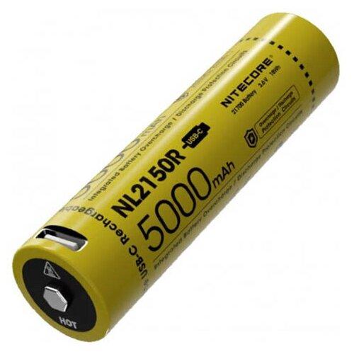 Фото - Аккумулятор Nitecore 21700 Li-Ion 5000mAh NL2150R / 19452 аккумулятор nitecore nl1665r