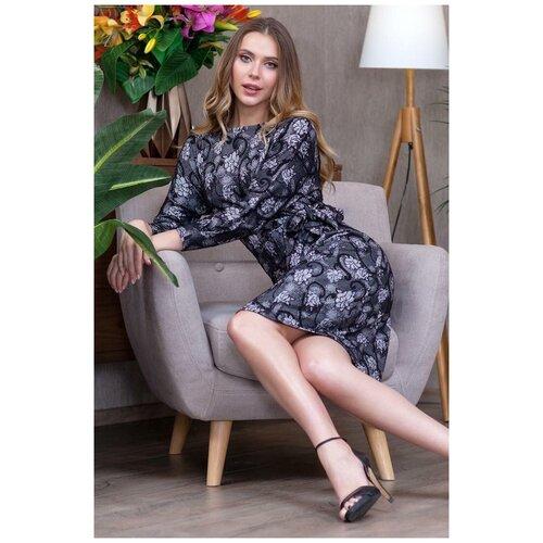 брюки ruxara ruxara mp002xw0f72l Красивое платье с поясом RUXARA (8092, серый, размер: 52)