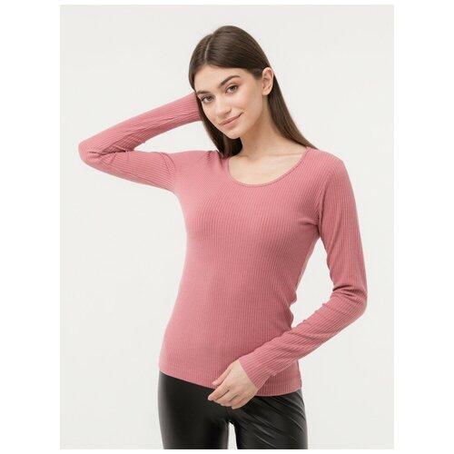 Лонгслив женский цвета Розовый LIOLI размер 44