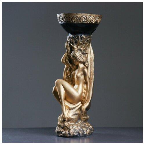 Фигура с кашпо Адам и Ева бронза 25х26х65см фигура адам и ева большая бронза 27х42х70см