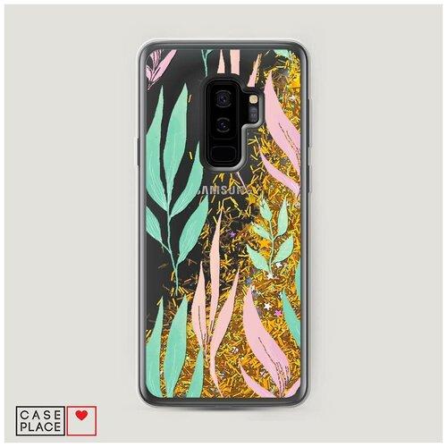 Фото - Чехол Жидкий с блестками Samsung Galaxy S9 Plus Цветочная фантазия 8 чехол жидкий с блестками samsung galaxy s20 plus цветочная фантазия 1