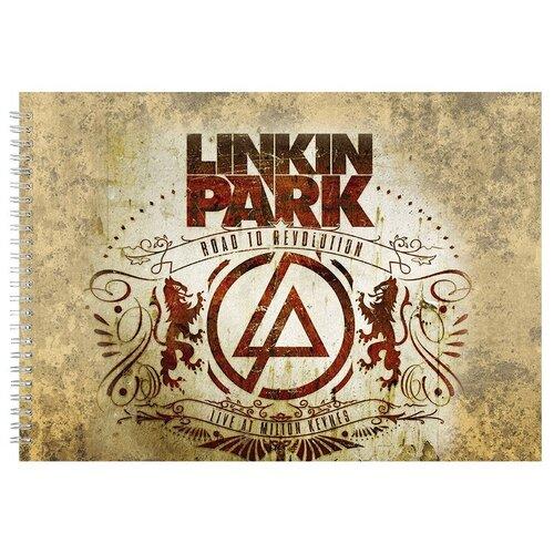 Альбом для рисования, скетчбук Линкин Парк Ретро