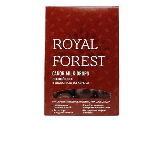 Фото - Шоколад кэроб Royal Forest Carob Milk Drops,лесной орех в кэробе, 75г royal forest carob drops дропсы из порошка плодов рожкового дерева 50 г