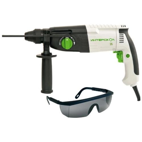 Перфоратор Интерскол П-26/800ЭР (426.3.2.00), SDS plus + ударопрочные защитные очки