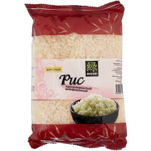 Рис MIDORI круглозернистый шлифованный для суши 450 г