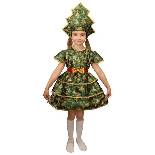 Костюм Маскарад у Алисы Ёлочка-3, зелeный, размер 32(128) костюм маскарад у алисы восточный принц коричневый размер 32 128
