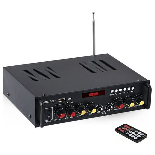 Kinter 007 Усилитель Hi-Fi с Bluetooth, MP3, FLAC, SD, USB, FM, MIC, AUX пульт ДУ