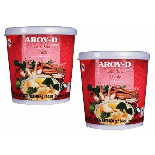 Паста Том Кха Aroy-D (2 шт. по 400 г) паста чили с соевым маслом aroy d 260 г