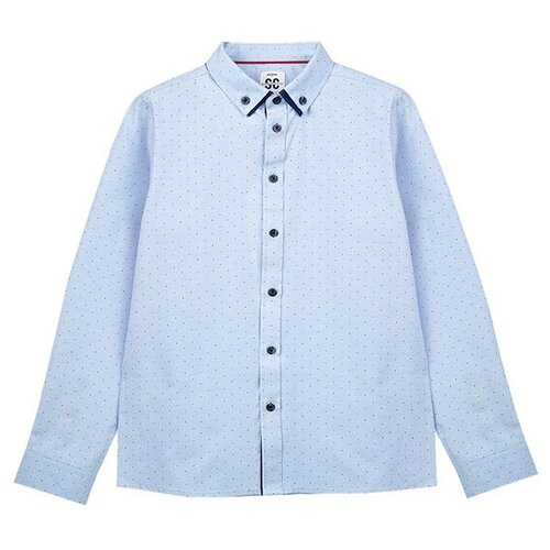Рубашка playToday размер 128, голубой
