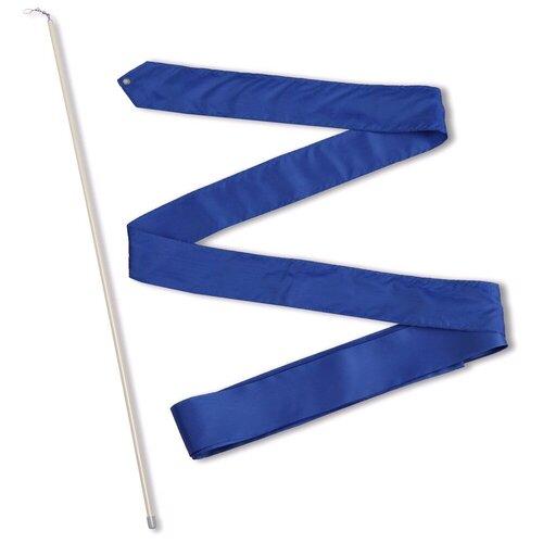Фото - Палочка с лентой для художественной гимнастики Indigo СЕ6 васильковый палочка с лентой для художественной гимнастики larsen ab220 синий