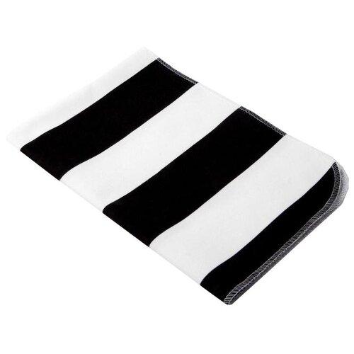 Купить Многоразовые пеленки Крошка Я Полоски 40х60 белый/черный 1 шт., Пеленки, клеенки