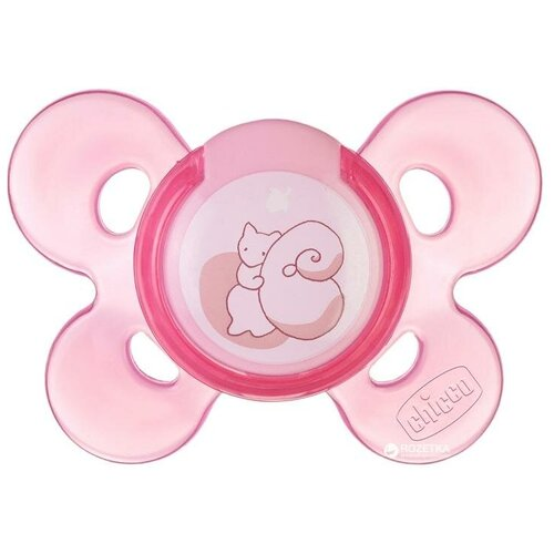 Фото - Пустышка силиконовая ортодонтическая Chicco Physio Comfort 0+, розовый chicco physio comfort пустышка силиконовая котики с 6 12 месяцев 1 шт