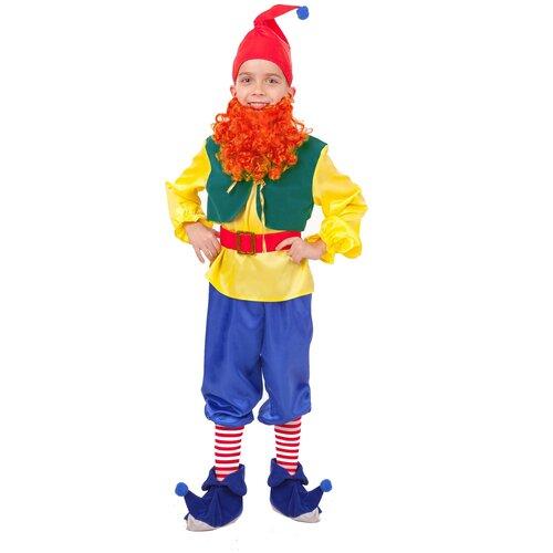 Купить Костюм пуговка Гном Тилли (2003 к-18), мультиколор, размер 116, Карнавальные костюмы