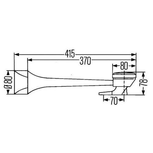 Звуковой сигнал Hella 3PB 005 411-001