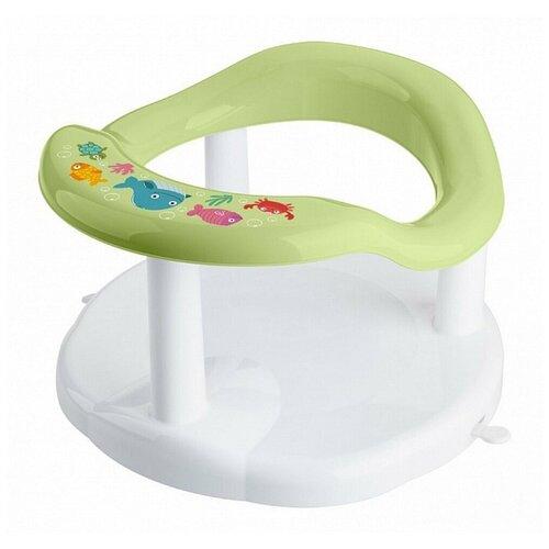 Сиденье для купания детей с декором, зеленое