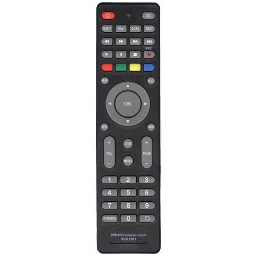 Фото - Пульт HUAYU DVB-T2+3 (версия 2021 года) для DVB-T2 ресиверов и IPTV приставок. пульт huayu opentech isb7 va70 для dvb ресиверов нтв