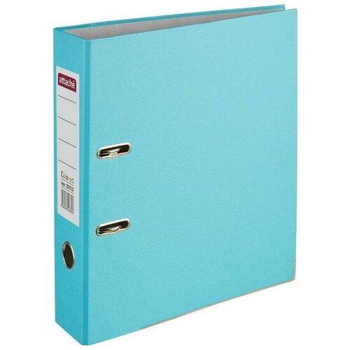 Attache Папка-регистратор Colored light А4, 75 мм голубой, Файлы и папки  - купить со скидкой