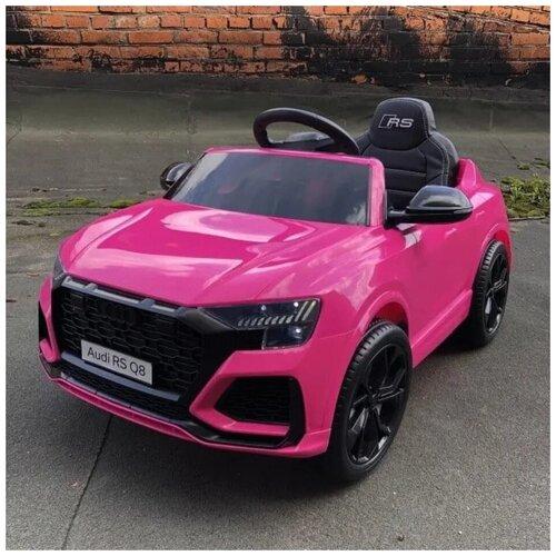 Фото - Детский электромобиль Audi RS Q8 12V 2WD - HL518-LUX-PINK электромобили harleybella hummer hx 12v