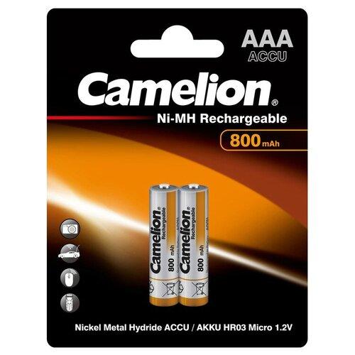 Фото - Аккумулятор Ni-Mh 800 мА·ч Camelion NH-AAA800, 2 шт. аккумулятор ni mh 1000 ма·ч camelion nh aaa1100 2 шт