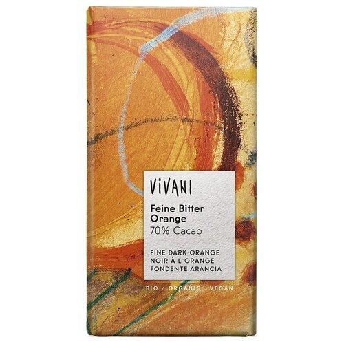 Шоколад Vivani горький 70% с апельсином, 100 г шоколад libertad royal горький с апельсином 2 3 кг