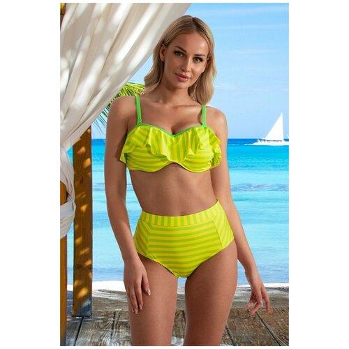 Купальник бикини Verano, размер 42(XL), green/yellow