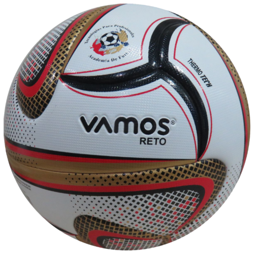 Мяч футбольный Vamos RETO 5, 5 размер, белый, золотой