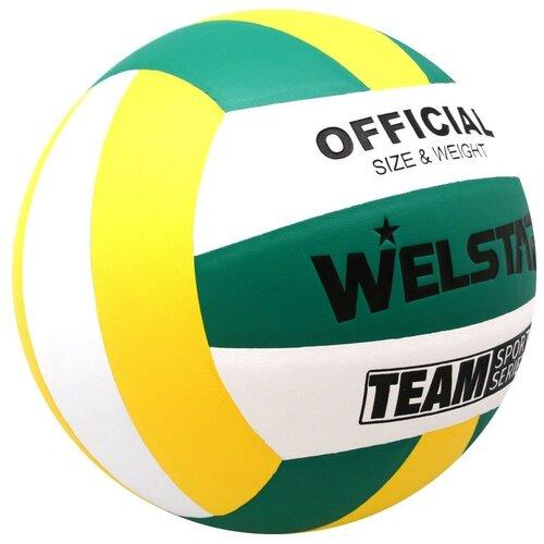 Волейбольный мяч WELSTAR VLPU4408 зеленый/желтый/белый