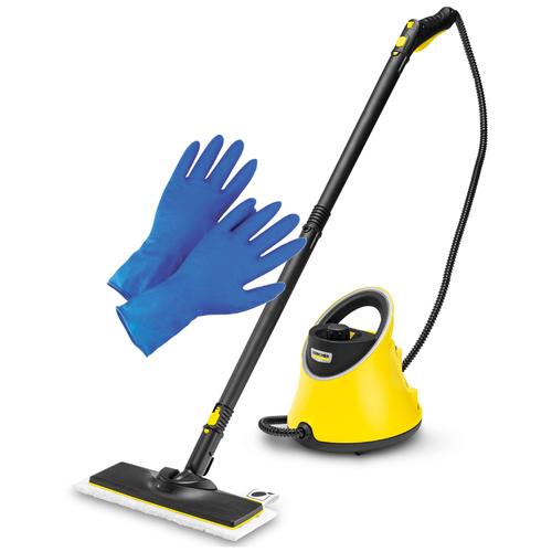 Пароочиститель Karcher SC 2 Deluxe EasyFix желтый черный + латексные хозяйственные перчатки
