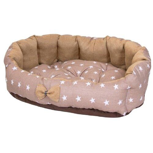 Фото - Лежак для собак и кошек HutPets MiniCot M 70х50 см coffee stars лежак для собак и кошек hutpets minicot s 50х45 см coffee stars