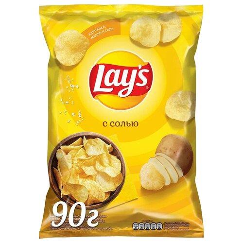Фото - Чипсы Lay's картофельные С солью, 90 г лоренц чипсы картофельные naturals классические с солью lorenz