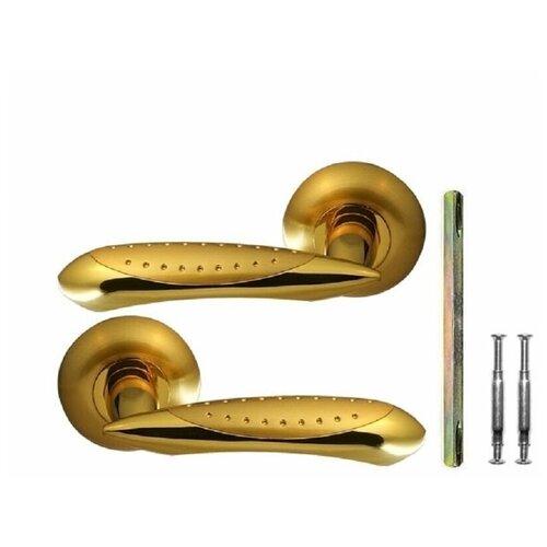 Ручка дверная на фланце РФ-6436 Зп/Зм Crit