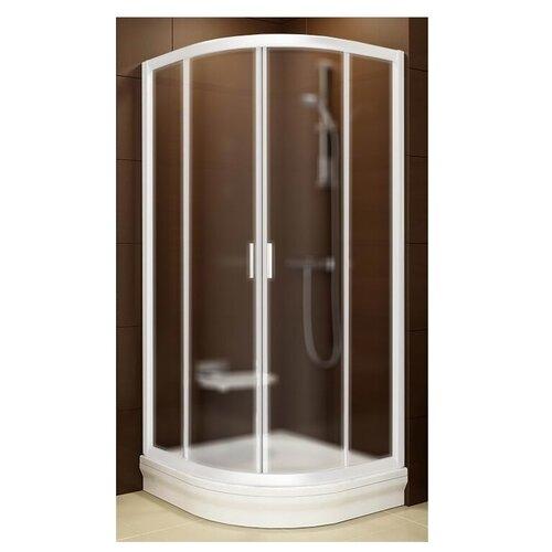 Душевой уголок RAVAK Blix BLCP4-80 80см*80см профиль белый/стекло грейп матовое