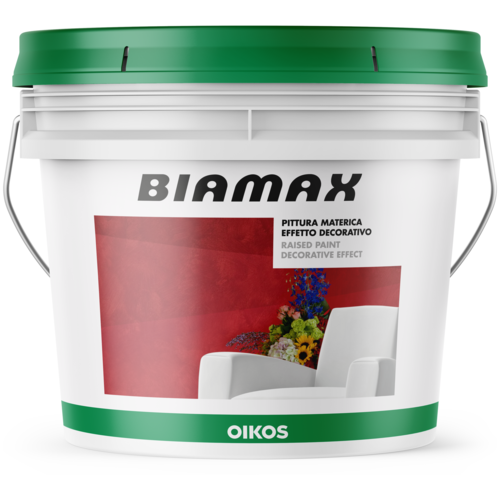 Декоративное покрытие Oikos Biamax 3 белый 4 л