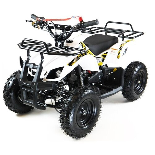 MOTAX Квадроцикл ATV Mini Grizlik Х-16 с Механическим стартером, белый