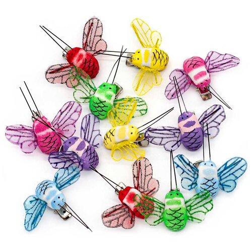 Купить LY170361/1-6 Пчела с клипсой 5см ассорти Астра 12 шт, Astra & Craft, Фурнитура для украшений