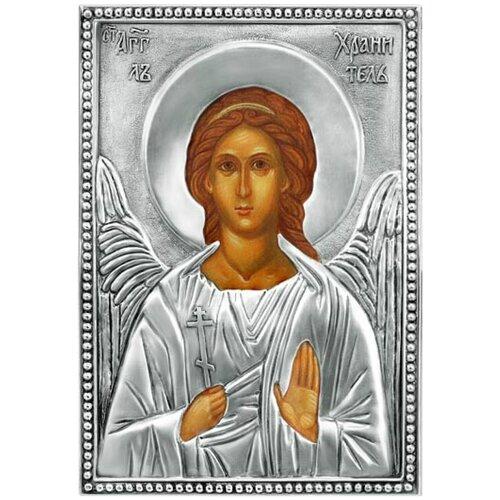 Икона Ангел Хранитель (посеребрённый оклад), 13.9х19.9 см