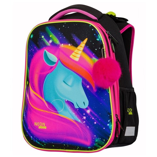 Berlingo ранец Expert Neon Unicorn, черный, Рюкзаки, ранцы  - купить со скидкой