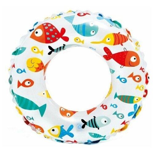 Фото - Надувной круг Intex 59241 рыбки в кораллах надувной круг intex 117x75cm 56590