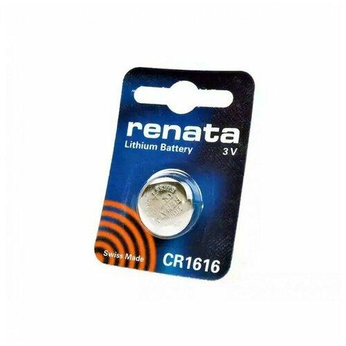 Фото - Батарейка Renata CR1616, 1 шт батарейка трофи cr1616 1 шт