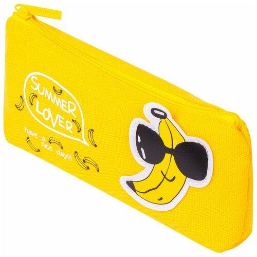 Фото - BRAUBERG Пенал-косметичка Cool Banana (228999) желтый пенал косметичка brauberg тайм