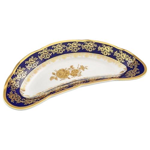 Фото - Блюдо для костей Мэри-Энн Темно-синяя окантовка с золотом, 24.5 см, Leander ваза для фруктов мэри энн темно синяя окантовка с цветами 23 см 03116154 0086 leander