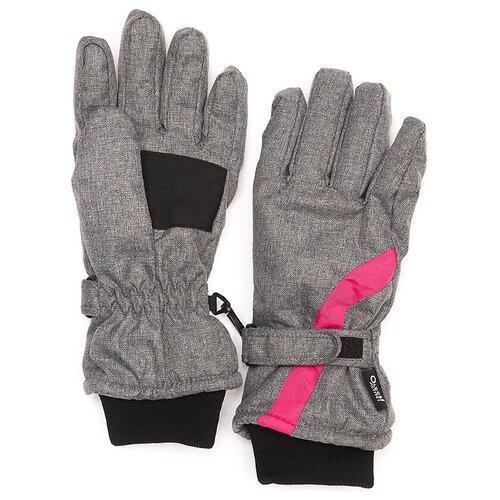 Перчатки Oldos Леоне AAW193T1AC05 размер 9-10, серый/розовый