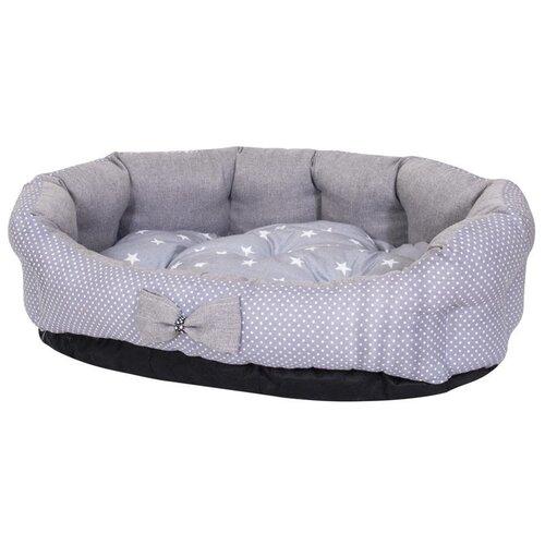 Фото - Лежак для собак и кошек HutPets MiniCot M 70х50 см Gray Peas лежак для собак и кошек hutpets minicot s 50х45 см coffee stars