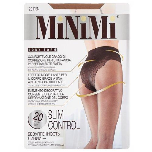 Фото - Колготки MiNiMi Slim Control, 20 den, размер 1/2-S, daino (бежевый) колготки minimi slim control 40 den размер 4 l daino бежевый