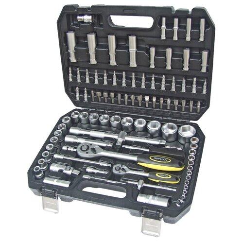 Фото - Набор инструментов Эврика ER-80094, 94 предм., черный/серебристый набор инструментов эврика er 31100 10 предм