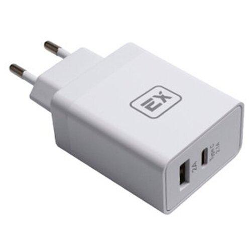 Фото - Зарядное устройство Exployd Sonder 1xUSB 1xType-C 4.1A White EX-Z-439 зарядное устройство exployd sonder 1xusb 2 4a qc3 0 кабель type c white ex z 633