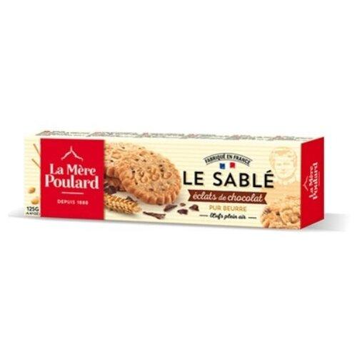 Печенье La Mere Poulard LE SABLE Eclats De Chocolat, 125 г
