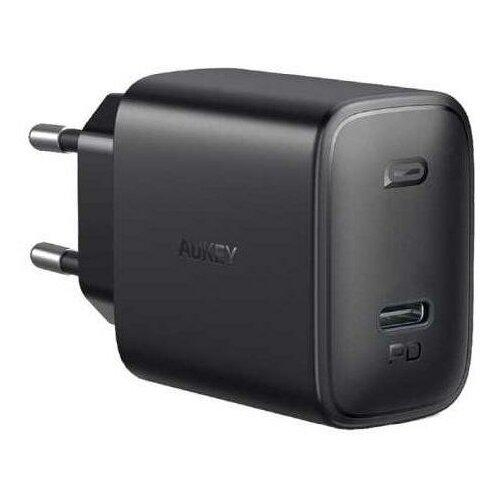 Фото - Сетевое зарядное устройство Aukey Swift PD 20W USB-C PA-F1S (Black) сетевое зарядное устройство aukey travel charger pa u32 12w 2xusb a черное